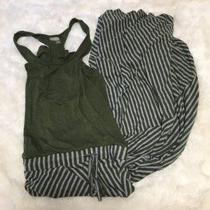 Athleta Maxi Dress Striped XS #16106